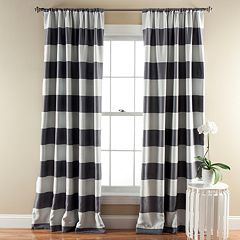 Lush Decor Striped Blackout Window Curtain Pair - 52'' x 84''