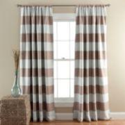 Lush Decor Striped Blackout Window Curtain Pair