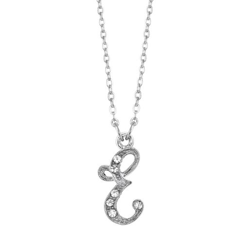 1928 Script Initial Necklace