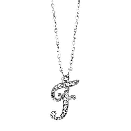 1928 Script Initial Necklace