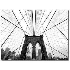 'NYC Brooklyn Bridge' Canvas Wall Art