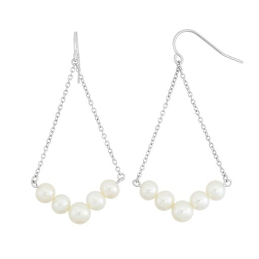 Freshwater Cultured Pearl Sterling Silver Chandelier Earrings