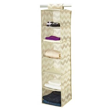 The Macbeth Collection Textured Chevron 6-Shelf Hanging Organizer