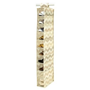The Macbeth Collection Textured Chevron 10-Pocket Hanging Shoe Organizer