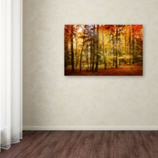 ''Brilliant Fall Color'' Canvas Wall Art