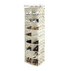 The Macbeth Collection Textured Chevron 16-Pocket Hanging Shoe Organizer