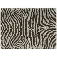 Nourison Splendor Zebra Print Shag Rug