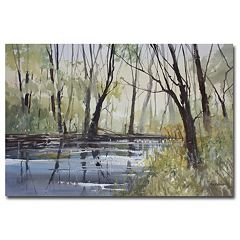 'Pine River Reflections' Canvas Wall Art
