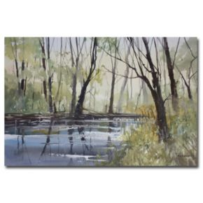 """""""Pine River Reflections"""" Canvas Wall Art"""