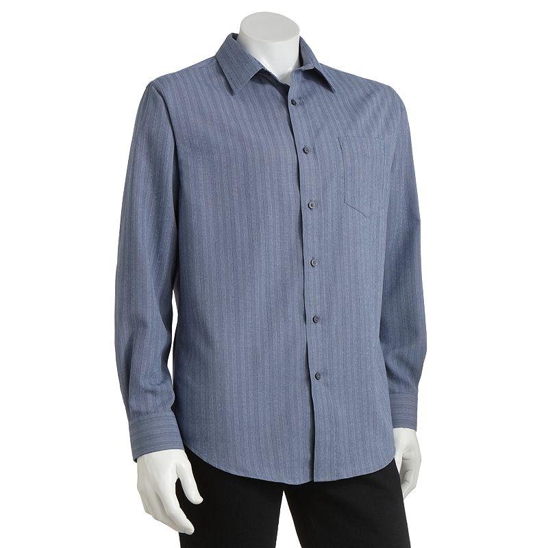 Mens plaid dress shirt kohl 39 s for Van heusen studio shirts big and tall