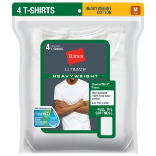 Men's Hanes Ultimate 4-pack Heavyweight Crewneck Tees