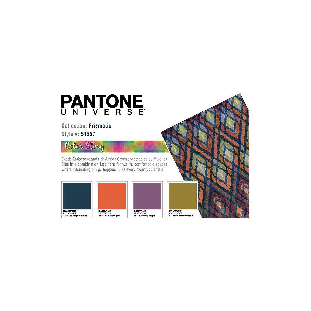 PANTONE UNIVERSE Prismatic Geometric Rug