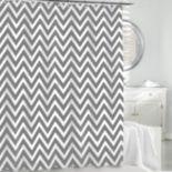 Kassatex Chevron Fabric Shower Curtain