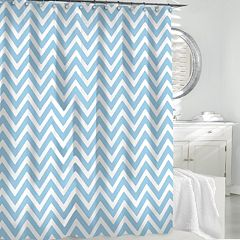 Kassatex Chevron Fabric Shower Curtain