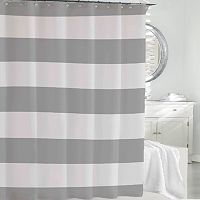 Kassatex Hampton Stripe Fabric Shower Curtain