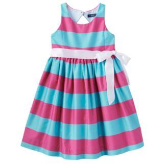 Toddler Girl Chaps Striped Taffeta Dress