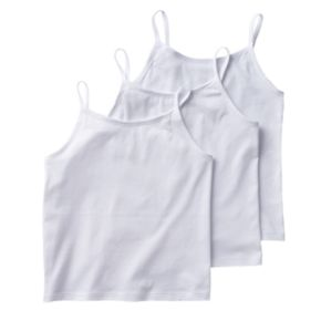 Girls 4-12 Hanes 3-pk. Ultimate Stretchy Comfy Camisoles