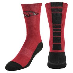 Men's Mojo Arkansas Razorbacks Champ 1/2-Cushion Performance Crew Socks