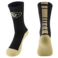 Men's Mojo Colorado Buffaloes Champ 1/2-Cushion Performance Crew Socks