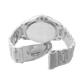 Journee Collection Women's Chevron Stainless Steel Watch