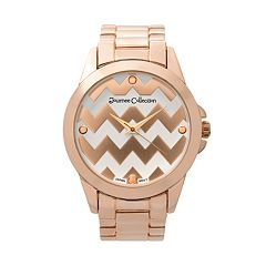 Journee Collection Women's Chevron Stainless Steel Watch