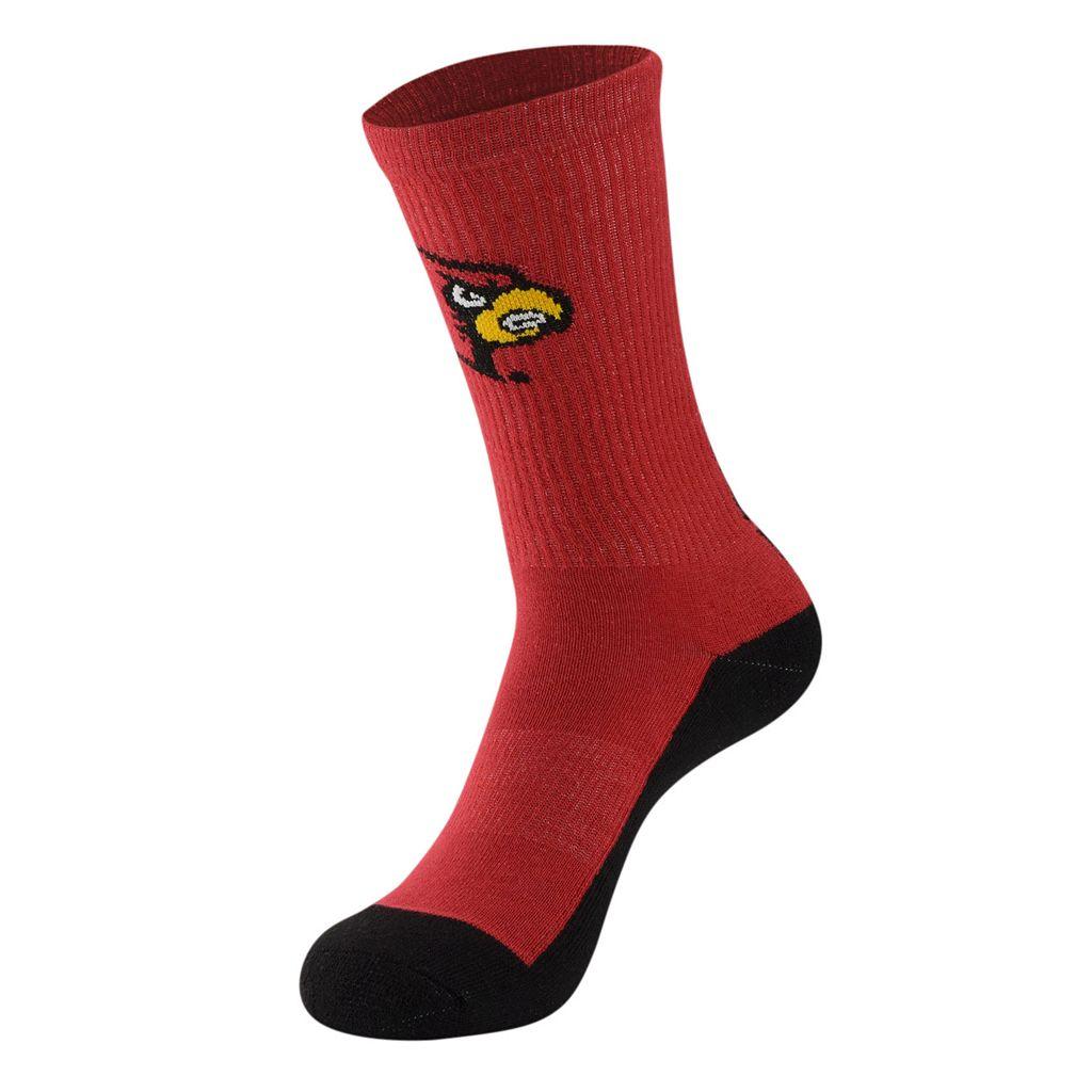Men's Mojo Louisville Cardinals Champ 1/2-Cushion Performance Crew Socks