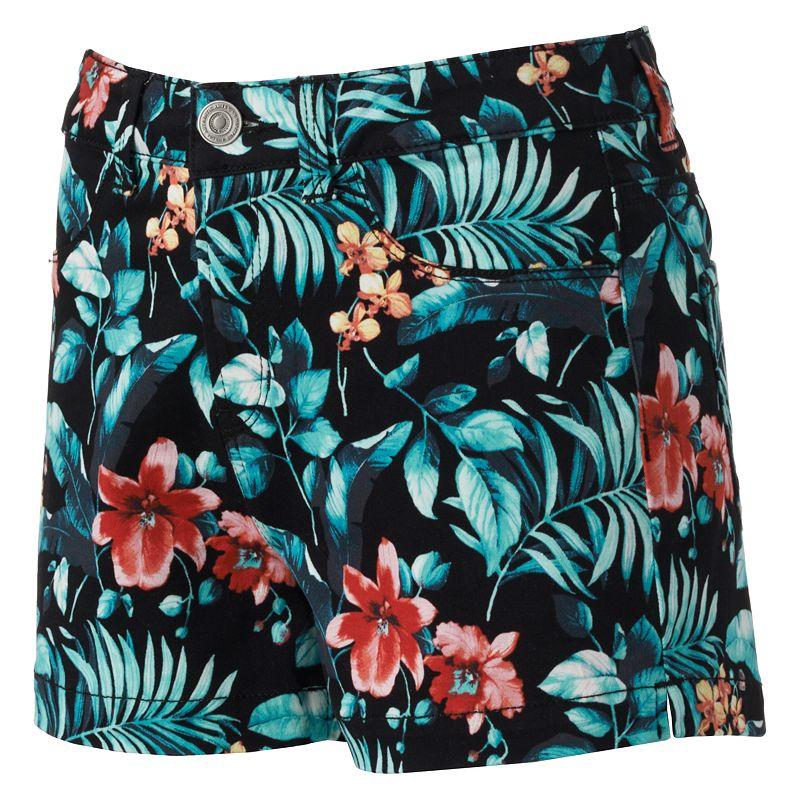 SO High-Waisted Twill Chino Shorts - Juniors