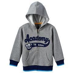 Toddler Boy Chaps Full-Zip Fleece Gray Hoodie