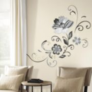 Flower Scroll Peel & Stick Giant Wall Decal Set