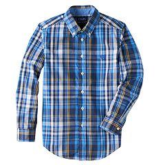 Boys 8-20 Chaps Winstead Plaid Button-Down Shirt