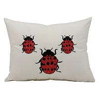 Mina Victory Ladybug Throw Pillow - Indoor / Outdoor