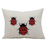 Mina Victory Ladybug Throw Pillow - Indoor / Outdoor