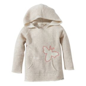 Baby Girl Burt's Bees Baby Organic Bee Terry Hooded Tunic