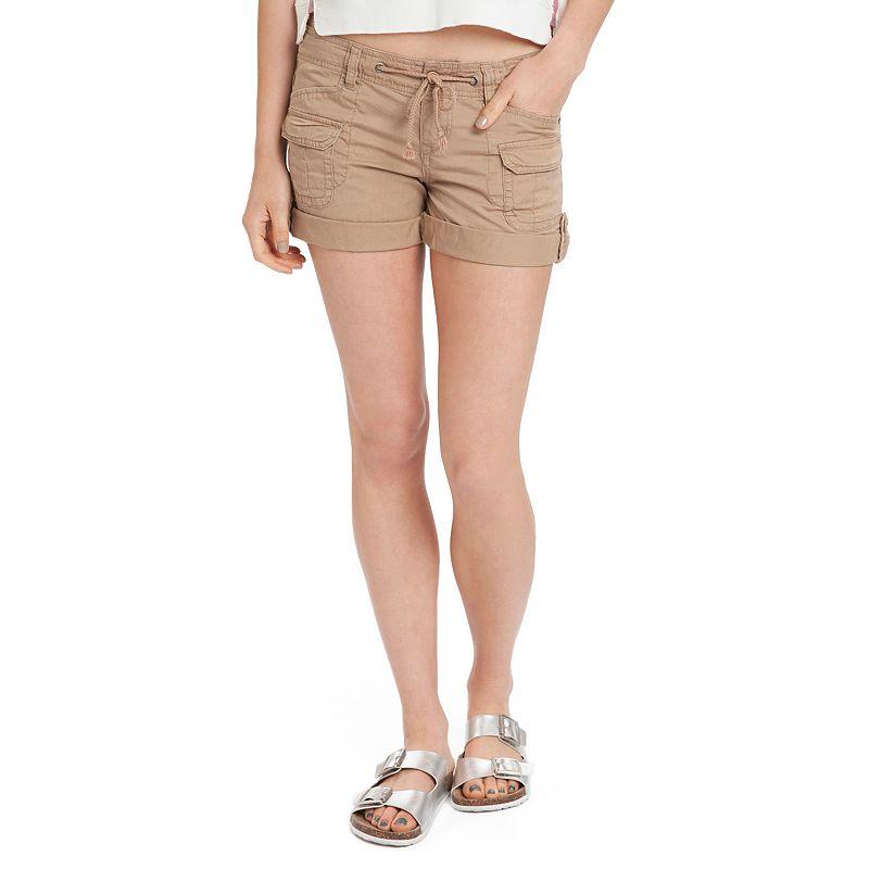 Unionbay Twill Rolled-Cuffs Juniors' Midi Shorts