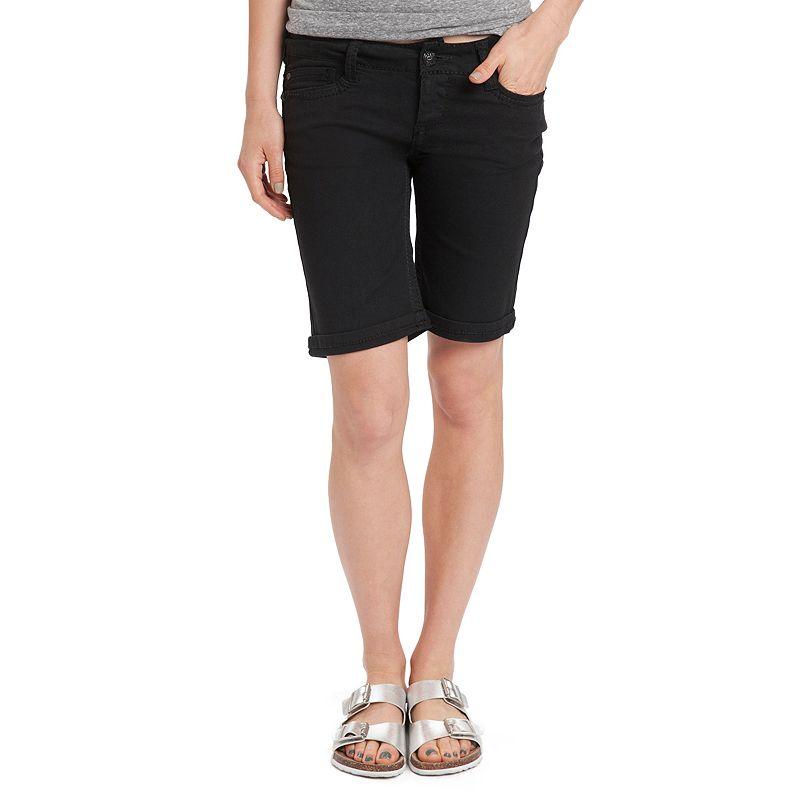 Unionbay Twill Juniors' Khaki Bermuda Shorts