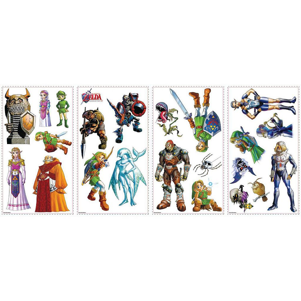 Zelda Ocarina of Time 3D Peel and Stick Wall Decal Set