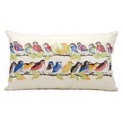 Kathy Ireland Bird Throw Pillow - Indoor / Outdoor