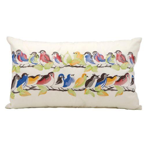 Kathy Ireland Bird Throw Pillow - Indoor / Outdoor