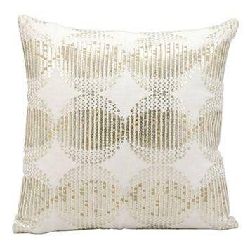 Kathy Ireland Sphere Sequin Throw Pillow