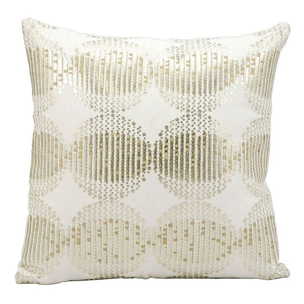 Kathy Ireland Sphere Sequin Throw Pillow
