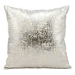 Kathy Ireland Metallic Crackle Throw Pillow