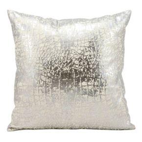 Kathy Ireland Metallic Crackle Throw Pillow