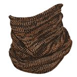 Men's QuietWear Brown Camo Knit Neck Gaiter