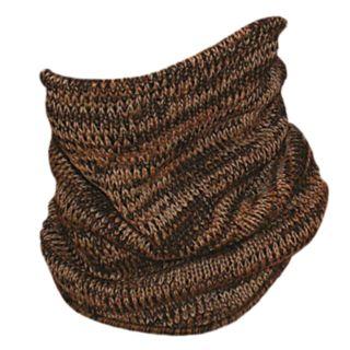 Men's QuietWear Brown Camo Knit Neck Gaiter