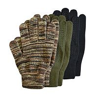 QuietWear 3-Pack Grip Gloves - Men