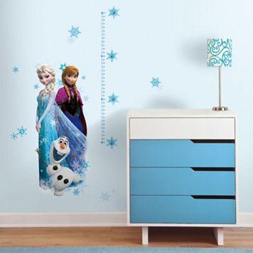Disney's Frozen Elsa, Anna & Olaf Peel & Stick Growth Chart Wall Decal Set