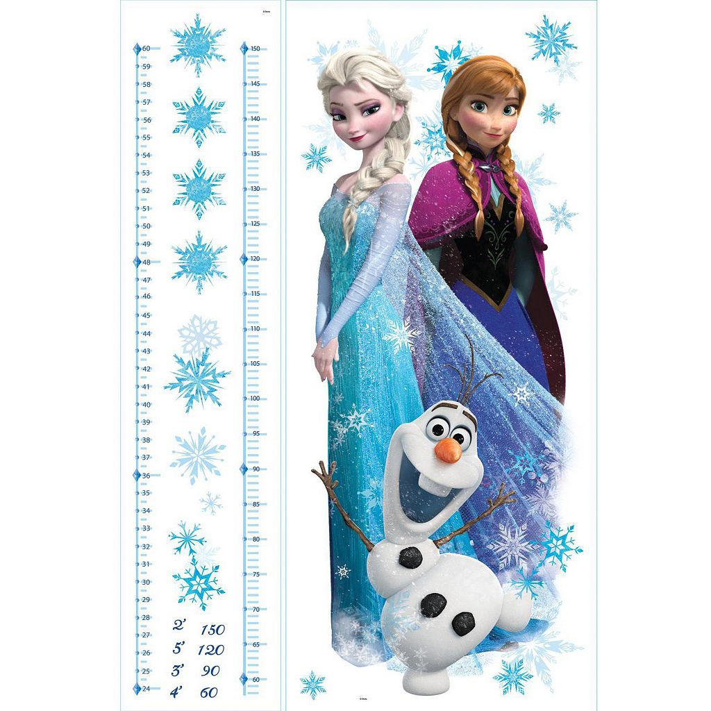 Disney's Frozen Elsa, Anna and Olaf Peel and Stick Growth Chart Wall Decal Set