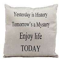 Mina Victory ''Enjoy Life Today'' Throw Pillow