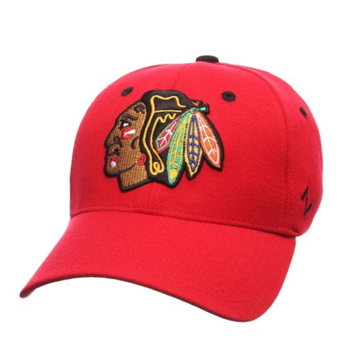 Adult Zephyr Chicago Blackhawks Breakaway Stretch Fit Cap