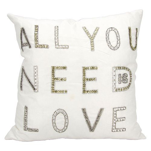 Mina Victory ''All You Need Is Love'' Throw Pillow